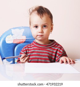 child signs a contract (humorous picture)