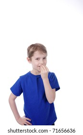 A child signs Food in American Sign Language