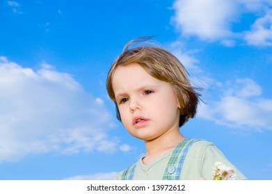child and sky