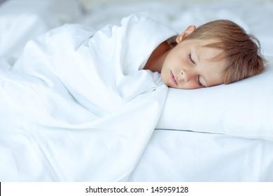 The child sleeps