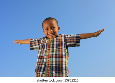 Child Spreading His Arms
