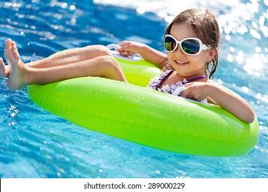 Child, Summer, Swimming Pool.