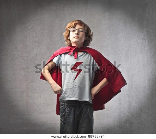 Child in superhero suit