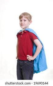 """Child in a """"Superman"""" pose"""