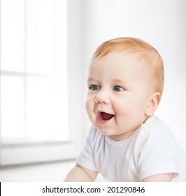 child and toddler concept - smiling little baby