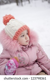 the child walks in the winter