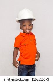 Child wearing helmet