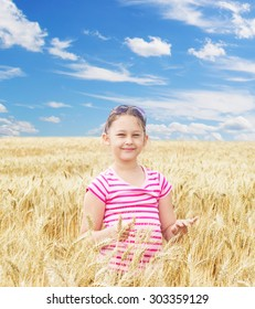 child and wheat field