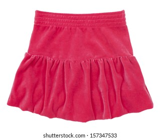 Child or woman's skirt. Isolated on white background