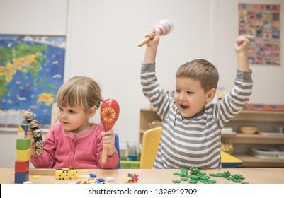 Childhood education development in the Montessori school concept