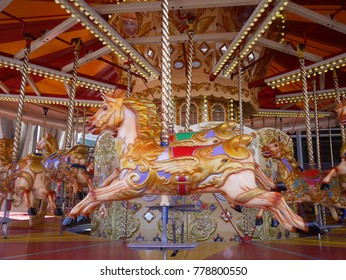 The childhood memories on a carousel