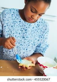 Children baking cookies
