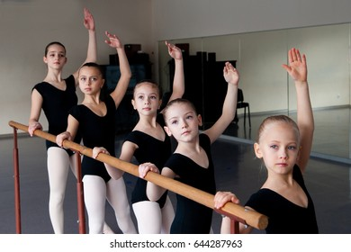 Children in Ballet Dance Class.