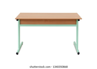 children chool desk, isolated on white