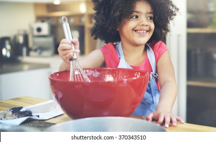 Children Cooking Happiness Kid Home Concept