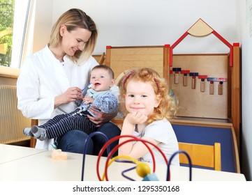 Children Dentist in a Kindergarten