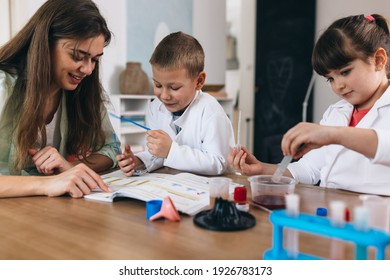 children do chemical experiments at home