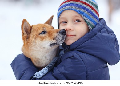 children and dogs concept of friendship loyalty