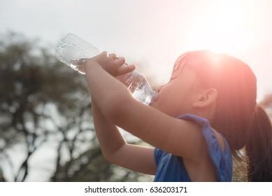 Children Drink Water
