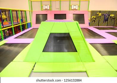 Children entertainment playground. Children's centre interior