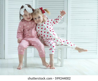 Children in fashionable pajamas