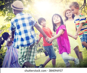Children Friendship Togetherness Game Happiness Concept