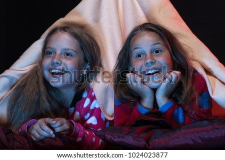 61740fed9 Children Fun Time Concept Girls Excited Stock Photo (Edit Now ...