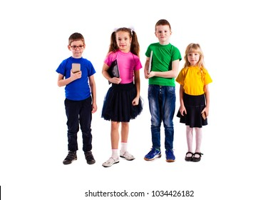 The children with gadgets
