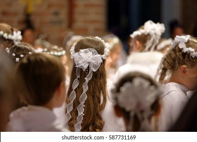 Children going to the first holy communion