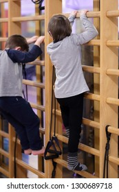 Children in the gym in physical activity and rehabilitation
