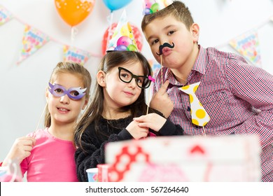 Children happy birthday party