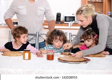 Children having a snack