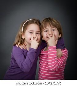 children indicated eyes