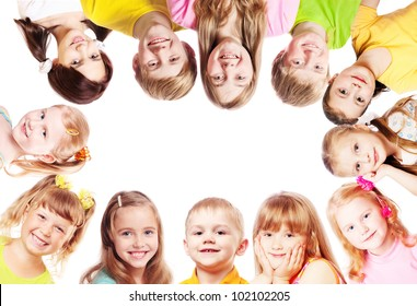 children isolated on white