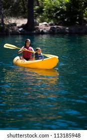 Children in Kayak