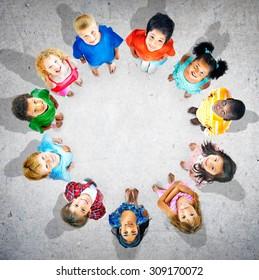 Children Kids Circle Group Concept