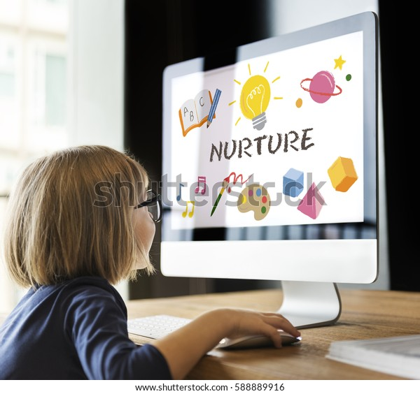 Children Learning Nurture Graphic Icon Symbol