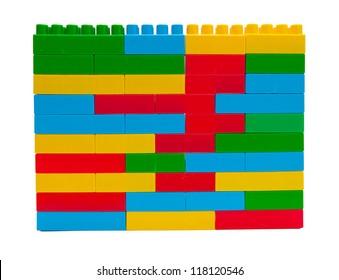 Children lego brick toy background