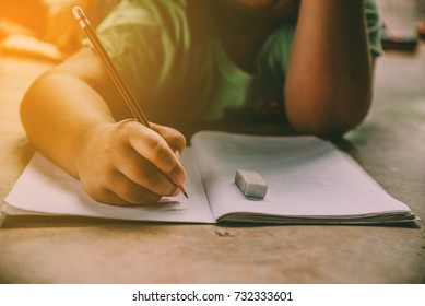 Children lie about writing a book