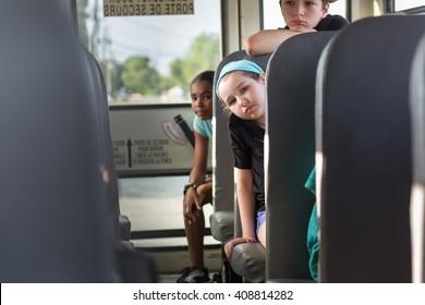 Children on the School bus