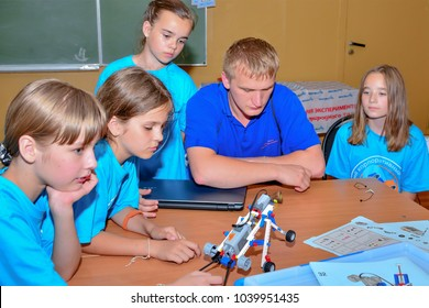 "Children on vacation children's camp ""science town"". Russia. Zelenograd 27.06.15"