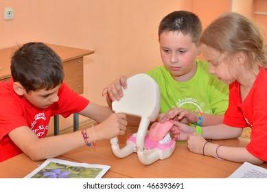 "Children on vacation children's camp ""science town"". Russia. Zelenograd 15.06.16"