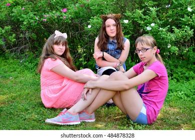 "Children on vacation children's camp ""science town"". Russia. Zelenograd 14.06.15"