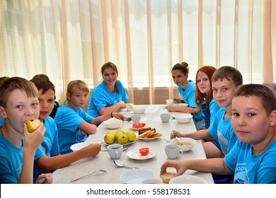"Children on vacation children's camp ""science town"". Russia. Zelenograd 30.06.15"