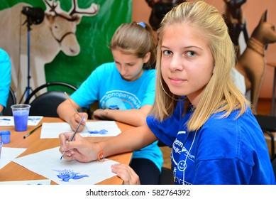 "Children on vacation children's camp ""science town"". Russia. Zelenograd 28.06.15"