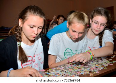 "Children on vacation children's camp ""science town"". Russia. Zelenograd 10.06.15"
