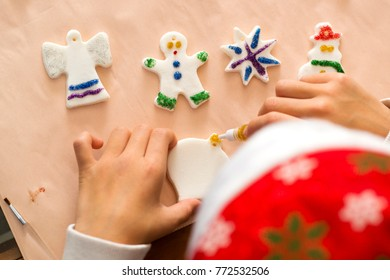 children painting christmas nativity  decoration