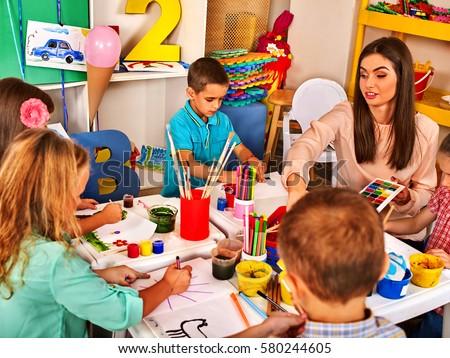 Children Painting Drawing Kids Club Craft Stockfoto Jetzt