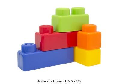 Children plastic toy building blocks and bricks