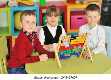 Children play in the children's room